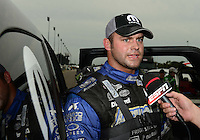 Sept. 30, 2012; Madison, IL, USA: NHRA funny car driver Matt Hagan after coming in runner-up the Midwest Nationals at Gateway Motorsports Park. Mandatory Credit: Mark J. Rebilas-
