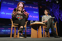 Monday 30 May 2016. Hay on Wye, UK<br />Caitlin Moran (L)<br />Hay Festival, Hay on Wye, Wales, UK