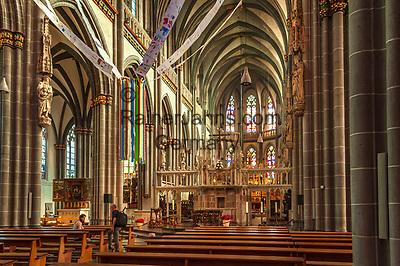 Deutschland, Nordrhein-Westfalen, Xanten: ehemalige Stiftskirche St. Viktor (Xantener Dom) - Innen   Germany, Northrhine-Westphalia, Xanten: Xanten cathedral - interior