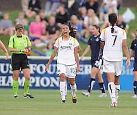 LA Sol forward Marta (10) celebrates her game winning goal. The LA Sol defeated the Washington Freedom 1-0 at the Maryland Soccerplex, Sunday July 5, 2009.