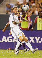 LA Galaxy midfielder David Beckham looks for the ball. The LA Galaxy defeated Chivas USA 1-0 to win the final edition of the 2009 SuperClásico at Home Depot Center stadium in Carson, California on Saturday, August 29, 2009...