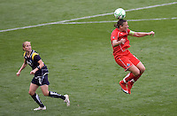Washington Freedom's Abby Wambach. The LA Sol defeated the Washington Freedom 2-0 in the opening game of Womens Professional Soccer at Home Depot Center stadium on Sunday March 29, 2009.  .Photo by Michael Janosz