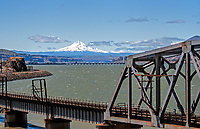 The John Day Dam on the Columbia River between the states of Oregon and Washington.