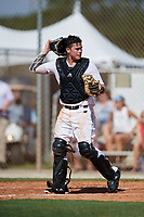 Garret Guillemette during the WWBA World Championship at the Roger Dean Complex on October 18, 2018 in Jupiter, Florida.  Garret Guillemette is a catcher from Yorba Linda, California who attends Servite High School and is committed to Oregon.  (Mike Janes/Four Seam Images)