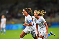 Belo Horizonte, Brazil - Wednesday, August 3, 2016: The USWNT go up 1-0 over New Zealand from a goal by Carli Lloyd in first half action in Group G play during the 2016 Olympics at Mineirão stadium.