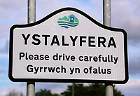An Ystalyfera sign on the A4067 in Wales, UK. Saturday 02 September 2017