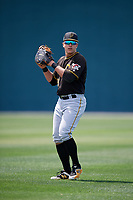 Pittsburgh Pirates Mason Martin (92) during a minor league Spring Training game against the Atlanta Braves on March 13, 2018 at Pirate City in Bradenton, Florida.  (Mike Janes/Four Seam Images)