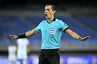 PEREIRA - COLOMBIA, 01–03-2021: Andres Rojas, arbitro durante partido de la fecha 10 entre Deportivo Pereira y Oscar Vanegas de Once Caldas por la Liga BetPlay DIMAYOR I 2021, jugado en el estadio Hernan Ramirez Villegas de la ciudad de Pereira. / Andres Rojas, referee during match of 10th date between Deportivo Pereira and Oscar Vanegas of Once Caldas for the BetPlay DIMAYOR I 2021 League played at the Hernan Ramirez Villegas in Pereira city. / Photo: VizzorImage / Ricardo Vejarano / Cont.