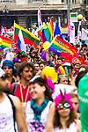 © Joel Goodman - 07973 332324 . 02/07/2011 . London , UK . Tens of thousands take part in the annual Pride march in London . Photo credit : Joel Goodman