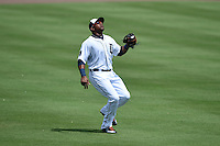 Detroit Tigers outfielder Yoenis Cespedes (52) during a Spring Training game against the Washington Nationals on March 22, 2015 at Joker Marchant Stadium in Lakeland, Florida.  The game ended in a 7-7 tie.  (Mike Janes/Four Seam Images)