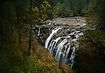 Autumn nature scenery of Waterfall in Englishman River Falls Provincial Park. Errington, Vancouver Island, British Columbia, Canada Image © MaximImages, License at https://www.maximimages.com