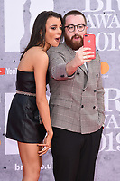 Daisy Maskell and Tom Green<br /> arriving for the BRIT Awards 2019 at the O2 Arena, London<br /> <br /> ©Ash Knotek  D3482  20/02/2019<br /> <br /> *images for editorial use only*
