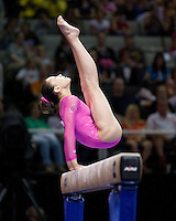 Kyla Ross of Gym-Max competes on the beam during the 2012 US Olympic Trials competition at HP Pavilion in San Jose, California on June 29th, 2012.