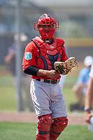 Boston Red Sox Jhon Nunez (31) during a minor league Spring Training game against the Tampa Bay Rays on March 23, 2016 at Charlotte Sports Park in Port Charlotte, Florida.  (Mike Janes/Four Seam Images)