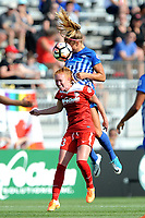 Boyds, MD - Saturday August 12, 2017: Tori Huster, Rosie White during a regular season National Women's Soccer League (NWSL) match between the Washington Spirit and The Boston Breakers at Maureen Hendricks Field, Maryland SoccerPlex.