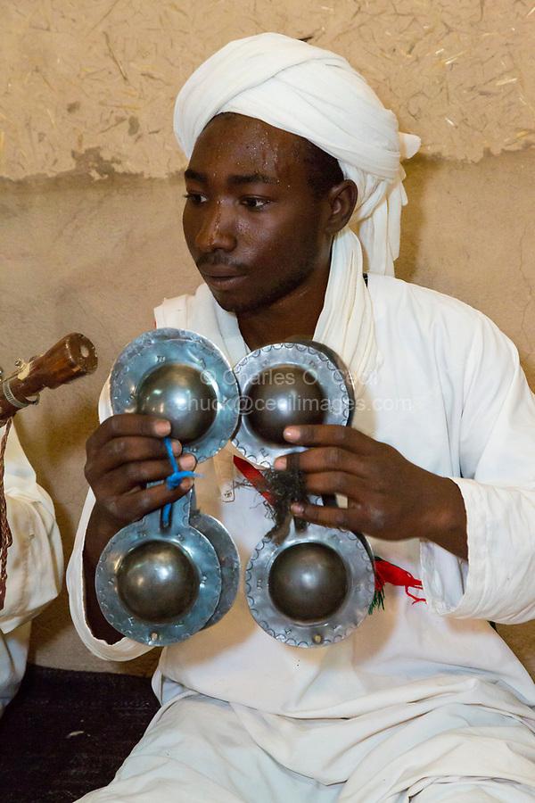 Merzouga, Morocco.  Gnaoua Musician.
