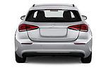 Straight rear view of 2019 Mercedes Benz A-Class Progressive 5 Door Hatchback Rear View  stock images