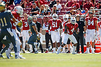 STANFORD, CA - September 15, 2018: Stanford Football wins over UC Davis 30-10 at Stanford Stadium.