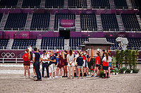 The Olympic Eventing Riders do their evening familiarisations prior to competition at the Equestrian Park. Tokyo 2020 Olympic Games. Monday 26 July 2021. Copyright Photo: Libby Law Photography