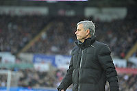 SWANSEA, WALES - JANUARY 17:   of  during the Barclays Premier League match between Swansea City and Chelsea at Liberty Stadium on January 17, 2015 in Swansea, Wales. Chelsea manager Jose Mourihno