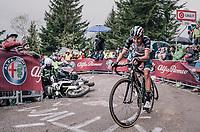 Fabio Aru (ITA/UAE-Emirates) avoiding a crashed moto up the infamous Monte Zoncolan (1735m/11%/10km)<br /> <br /> stage 14 San Vito al Tagliamento – Monte Zoncolan (186 km)<br /> 101th Giro d'Italia 2018