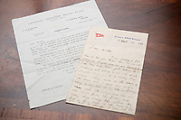 BNPS.co.uk (01202 558833)<br /> Pic: ZacharyCulpin/BNPS<br /> <br /> Pictured: The letter and, left, a cover letter sent to Henry's Mother, Mrs E. Cotterill, documenting one months allowance from the National Disasters Relief Fund. - Also part of the sale was a remarkable letter by a tragic hero of the Titanic disaster who was mesmerised by the luxury liner which sold for £15,000<br /> <br /> Relics salvaged from the sunken ship that rescued the Titanic survivors have sold at auction for £135,000.<br /> <br /> The rare items included the engine room order telegraph the captain of the Carpathia used after he received the SOS from Titanic.<br /> <br /> He moved the handle to 'Full Steam Ahead', instructing staff in the engine room to rapidly increase speed