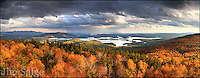 An interesting day with dramatic turns in the weather found me hiking Mount Morgan late in the afternoon when a thunderstorm broke out.  We continued onward, breaking out of the trees onto the ledge to this scene, just as the sun broke out of the clouds again.  The view overlooks beautiful Squam Lake in New Hampshire's Lakes Region.