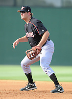 First baseman Dan Black (40) of the Kannapolis Intimidators, Class A affiliate of the Chicago White Sox, in a game against the Greenville Drive on May 27, 2011, at Fluor Field at the West End in Greenville, S.C. Photo by Tom Priddy / Four Seam Images