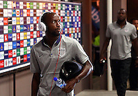 SAN JOSE, COSTA RICA - September 06, 2013: DaMarcus Beasley (7) of the USA MNT enters the stadium before a 2014 World Cup qualifying match against Costa Rica at the National Stadium in San Jose on September 6. USA lost 3-1.