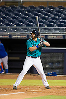 AZL Mariners first baseman Caleb Eldridge (16) at bat against the AZL Royals on July 29, 2017 at Peoria Stadium in Peoria, Arizona. AZL Royals defeated the AZL Mariners 11-4. (Zachary Lucy/Four Seam Images)