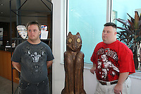 Frankie and Troy pose at the 12th Annual SoapFest - Painting Party to benefit Marco Island YMCA, theatre program & Art League of Marco Island on May 15, 20010 on Marco Island, FLA. (Photo by Sue Coflin/Max Photos)