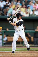 Jacksonville Suns outfielder Joe Benson (5) at bat during game three of the Southern League Championship Series against the Chattanooga Lookouts on September 12, 2014 at Bragan Field in Jacksonville, Florida.  Jacksonville defeated Chattanooga 6-1 to sweep three games to none.  (Mike Janes/Four Seam Images)