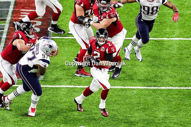 Atlanta Falcons quarterback Matt Ryan (2) in action during Super Bowl LI at the NRG Stadium in Houston, Texas.