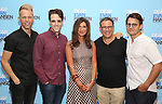 Justin Paul, Steven Levenson, Stacey Mindich, Michael Greif, and Benj Pasek attends the National Tour Photo Call for 'Dear Evan Hansen' on September 6, 2018 at the New 42nd Street Studios in New York City.