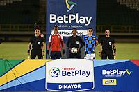 TUNJA - COLOMBIA, 31-08-2021: Boyacá Chicó F.C. y Barranquilla F.C. en partido por la fecha 6 como parte del Torneo BetPlay Dimayor II 2021 jugado en el estadio La Independencia de la ciudad de Tunja. / Boyaca Chico F.C. and Barranquilla F.C. in match for the date 6 as part of BetPlay DIMAYOR Tournament II 2021 played at La Independencia stadium in Tunja city. Photo: VizzorImage / Macgiver Baron / Cont