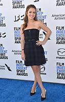 SANTA MONICA, CA: 08, 2020: Billie Lourde at the 2020 Film Independent Spirit Awards.<br /> Picture: Paul Smith/Featureflash