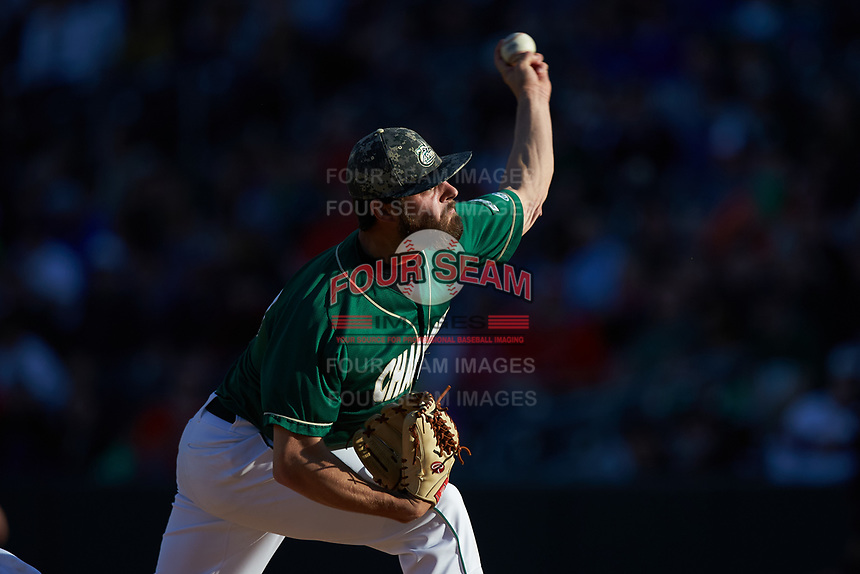 Charlotte 49ers starting pitcher J.D. Prochaska (30) in action against the North Carolina State Wolfpack at BB&T Ballpark on March 29, 2016 in Charlotte, North Carolina. The Wolfpack defeated the 49ers 7-1.  (Brian Westerholt/Four Seam Images)