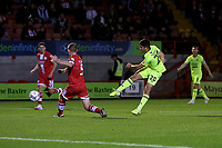 Ruel Sotiriou of Leyton Orient scores the first goal for his team during Crawley Town vs Leyton Orient, Papa John's Trophy Football at The People's Pension Stadium on 5th October 2021