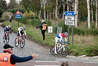 Mathieu Van der Poel (NED/Alpecin-Fenix) coming down the Holleweg <br /> <br /> 104th Ronde van Vlaanderen 2020 (1.UWT)<br /> 1 day race from Antwerpen to Oudenaarde (BEL/243km) <br /> <br /> ©kramon