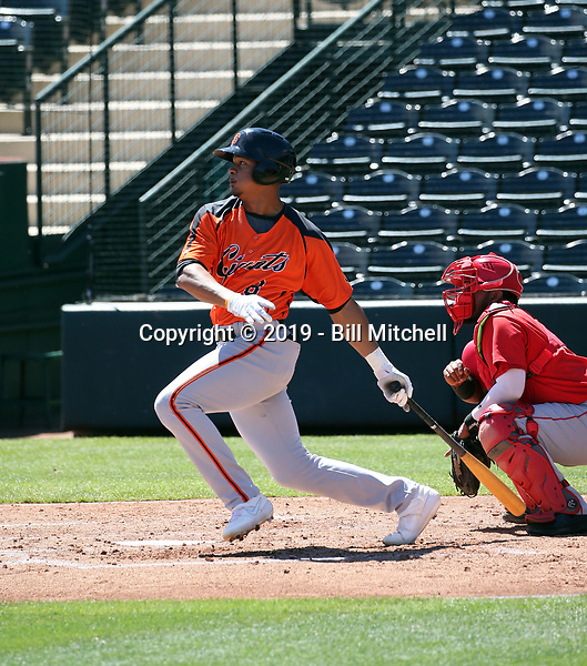 George Bell Jr - San Francisco Giants 2019 extended spring training (Bill Mitchell)