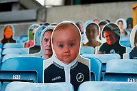 31st October 2020; The Den, Bermondsey, London, England; English Championship Football, Millwall Football Club versus Huddersfield Town; Carbaord cut-out of Millwall football fans inside The Dockers Stand