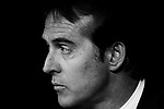 Manager Julen Lopetegui of Real Madrid is seen prior to the La Liga 2018-19 match between Real Madrid and Getafe CF at Estadio Santiago Bernabeu on August 19 2018 in Madrid, Spain. Photo by Diego Souto / Power Sport Images