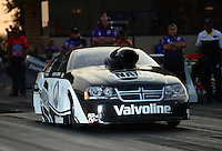 Jun. 30, 2012; Joliet, IL, USA: NHRA pro stock driver Vincent Nobile during qualifying for the Route 66 Nationals at Route 66 Raceway. Mandatory Credit: Mark J. Rebilas-