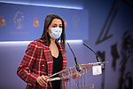 The president of Ciudadanos (Cs), Ines Arrimadas, during a press conference offered in the Congress of Deputies . April 20, 2021. (ALTERPHOTOS/Ciudadanos/Pool)