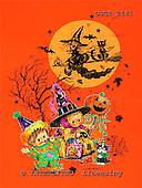 GIORDANO, CUTE ANIMALS, LUSTIGE TIERE, ANIMALITOS DIVERTIDOS, Halloween, paintings+++++,USGI2141,#AC#