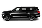 Car Driver side profile view of a 2020 Lincoln Navigator Reserve-L 5 Door SUV Side View