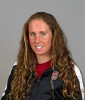 Tara Halsted, with the Stanford Women's Swim Team Photo taken on Wednesday, September 25, 2013.