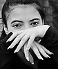 Yasmin models her fingers and her new finger nails. Her friend did them and it was only her second time.<br /> <br /> Stock Photo by Paddy Bergin