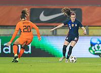 BREDA, NETHERLANDS - NOVEMBER 27: Rose Lavelle #16 of the USWNT dribbles during a game between Netherlands and USWNT at Rat Verlegh Stadion on November 27, 2020 in Breda, Netherlands.