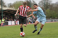 Nathan Green of Billericay and Lewis Smith of Hornchurch - AFC Hornchurch vs Billericay Town - Ryman League Premier Division Football at The Stadium, Upminster Bridge, Essex - 09/04/12 - MANDATORY CREDIT: Gavin Ellis/TGSPHOTO - Self billing applies where appropriate - 0845 094 6026 - contact@tgsphoto.co.uk - NO UNPAID USE